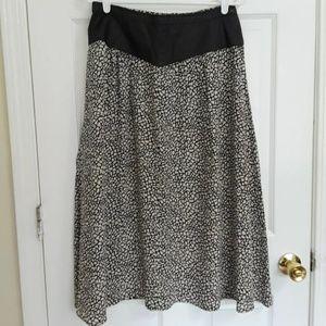 Bellino Mode Paris VINTAGE Leather 100% Silk Skirt